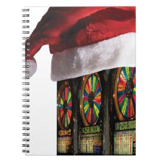 Máquina tragaperras del navidad notebook