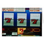 Máquina tragaperras en un casino felicitación