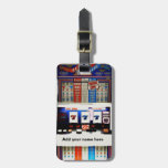 Máquina tragaperras personalizada etiquetas para equipaje