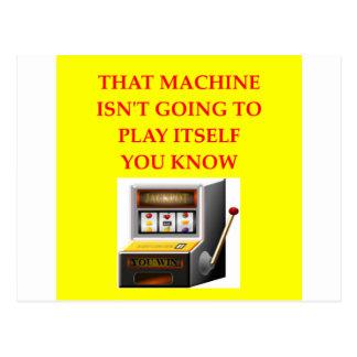 máquina tragaperras tarjetas postales