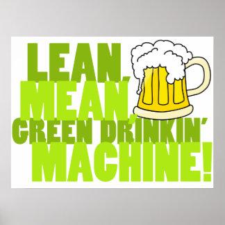 Máquina verde de Drinkin Posters