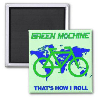 Máquina verde imán cuadrado