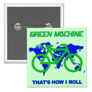 Máquina verde pin cuadrado