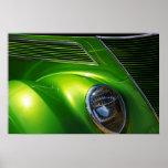 Máquina verde poster