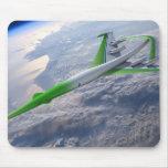 Máquina verde supersónica alfombrillas de ratones