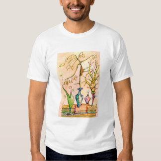 """Maquinaria botánica - camiseta """"e-Natural"""" Playera"""