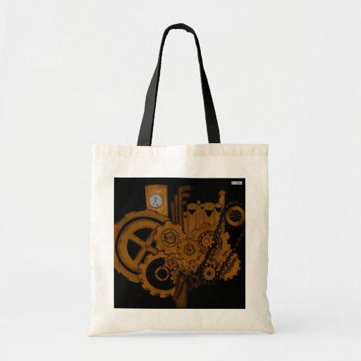 Maquinaria de Steampunk (cobre) Bolsa Tela Barata