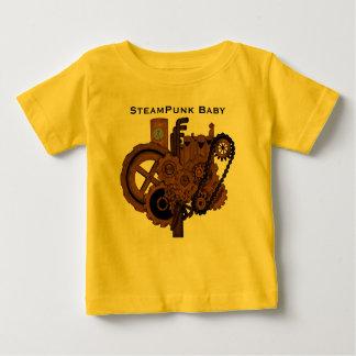 Maquinaria de Steampunk (cobre) Playera De Bebé