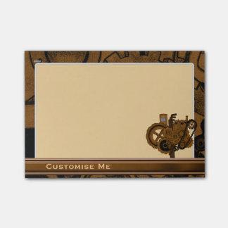 Maquinaria de Steampunk (cobre) Post-it® Notas
