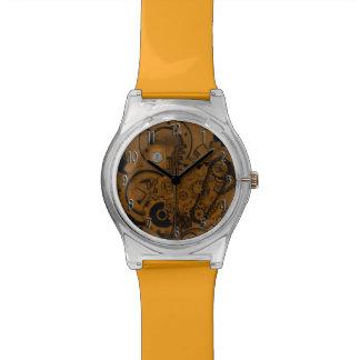 Maquinaria de Steampunk (cobre) Relojes De Mano