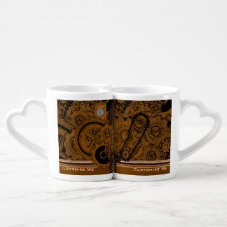 Maquinaria de Steampunk (cobre) Set De Tazas De Café