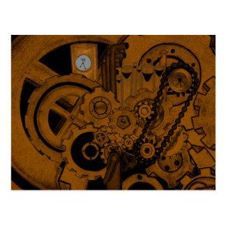 Maquinaria de Steampunk (cobre) Postal