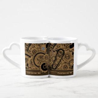 Maquinaria de Steampunk (de latón) Set De Tazas De Café