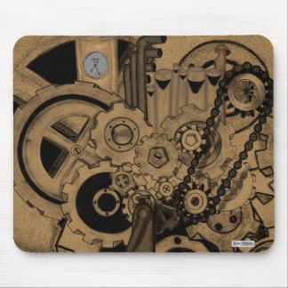 Maquinaria de Steampunk (de latón) Tapetes De Ratón