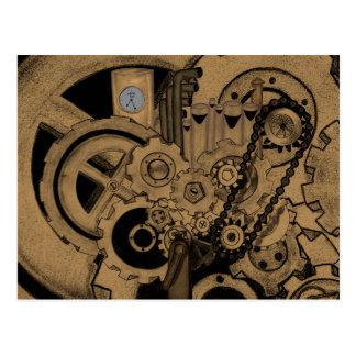 Maquinaria de Steampunk (de latón) Tarjetas Postales