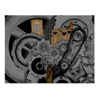 Maquinaria de Steampunk Tarjetas Postales