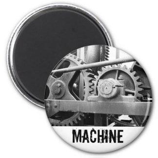 Maquinaria del vintage imán redondo 5 cm