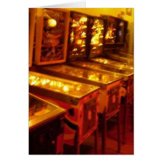Máquinas de pinball tarjeta de felicitación