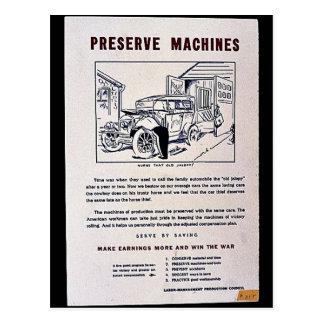 Máquinas del coto tarjeta postal