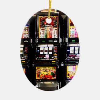 Máquinas ideales de las ranuras de Las Vegas Adorno Navideño Ovalado De Cerámica