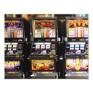 """Máquinas ideales de las ranuras de Las Vegas Invitación 4.25"""" X 5.5"""""""