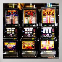 Máquinas ideales de las ranuras de Las Vegas Posters