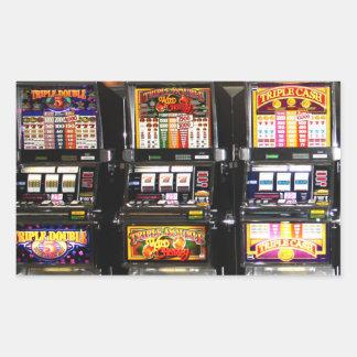 Máquinas ideales de las ranuras de Las Vegas Pegatina Rectangular