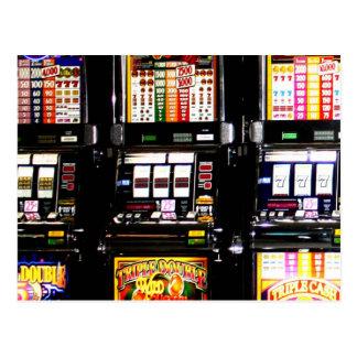 Máquinas ideales de las ranuras de Las Vegas Postales