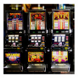 Máquinas ideales de las ranuras de Las Vegas Póster