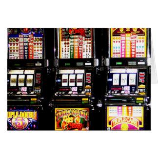 Máquinas ideales de las ranuras de Las Vegas Tarjeta De Felicitación