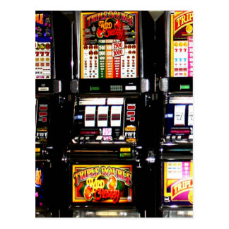Máquinas ideales de las ranuras de Las Vegas Tarjetas Postales