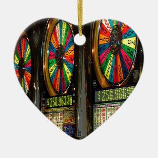 Máquinas tragaperras de Las Vegas Adorno De Cerámica En Forma De Corazón