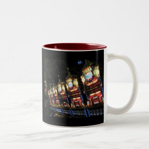 Máquinas tragaperras taza de café de dos colores