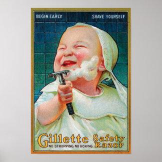 Maquinilla de afeitar de seguridad de Gillette - c Posters