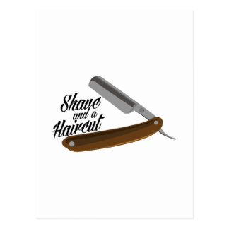 Maquinilla de afeitar del afeitado tarjetas postales