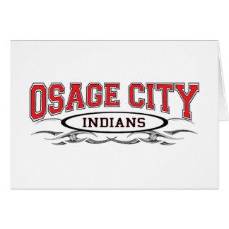 Maquinillas de afeitar de los indios de la ciudad  tarjeta de felicitación