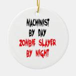 Maquinista del asesino del zombi adornos de navidad