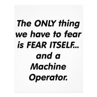 Maquinista del miedo tarjeton