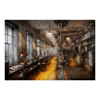 Maquinista - el taller viejo de Santa Poster