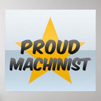 Maquinista orgulloso poster