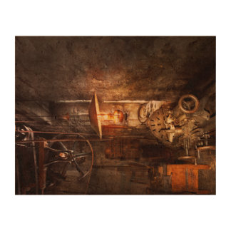 Maquinista - torno - la esquina de un taller viejo impresión en corcho