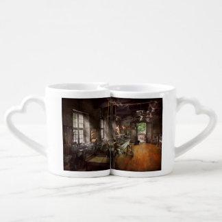Maquinista - torno - un torno largo set de tazas de café