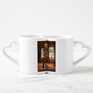 Maquinista - una amoladora solitaria set de tazas de café