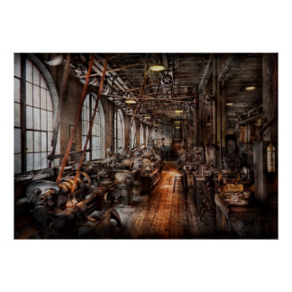 Maquinista - una tienda de máquina completamente póster