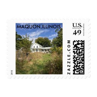 Maquon Illinois postage stamp