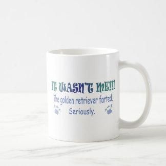 mar14DogFrtdGoldenRetriever.jpg Classic White Coffee Mug
