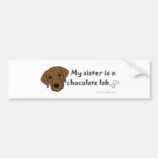 mar152015ChocolateLabSister.jpg Bumper Sticker