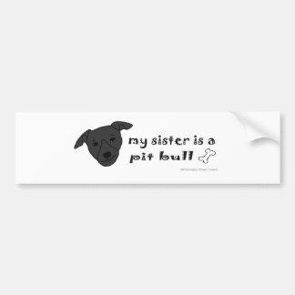 mar152015PitBullBlackSister.jpg Bumper Sticker