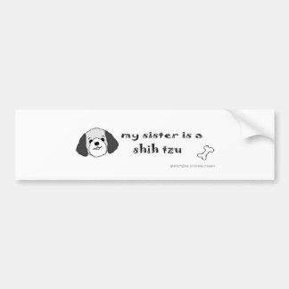 mar162015ShihTzuGreySister.jpg Bumper Sticker