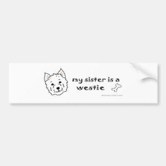 mar162015WestieSister.jpg Bumper Sticker